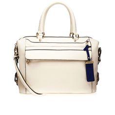 Bolsa Tiracolo de couro. Tamanho: 21 x 30 x 16 cm.