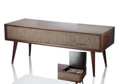 Sylvania Walnut Stereo Record Player Cabinet Old Pinterest