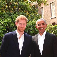 Prince Harry hosted former US President Barack Obama at Kensington Palace