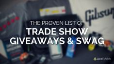 What are the best promotional products to give away at trade shows? We compiled a list of the best items for trade show giveaways. #TradeShow