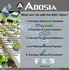 Who will next make huge disruptions in #IoT & #crypto w/ #decentralized #blockchain #Technology & #hardware developed by their own #Engineering team with a #token ( $ado ) that ties their entire ecosystem together? ADOSIA. Give us a look and discover what our team is building. https://adosia.com #hydroponic #diy #gardening #tips #diagrams #green #cannabis #marijuana #vegetables #heirloom #organic