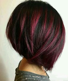 I would love to do this. Hair Color And Cut, Haircut And Color, Cool Hair Color, Hair Colors, Colours, Great Hair, Bob Hairstyles, Bob Haircuts, Wedding Hairstyles