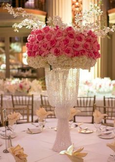 Featured Photographer: Michael Segal Photography; Wedding reception centerpiece idea.
