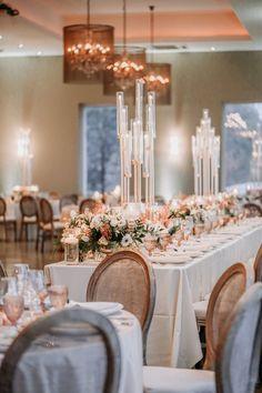 Reception Table, Reception Decorations, Wedding Tables, Wedding Reception, Candle Wedding Centerpieces, Flower Centerpieces, Golden Wedding Anniversary, Anniversary Ideas