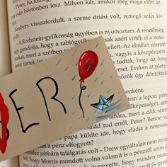 It movie inspired hand painted leather bookmark