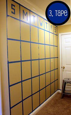3. Chalkboard Calendar process