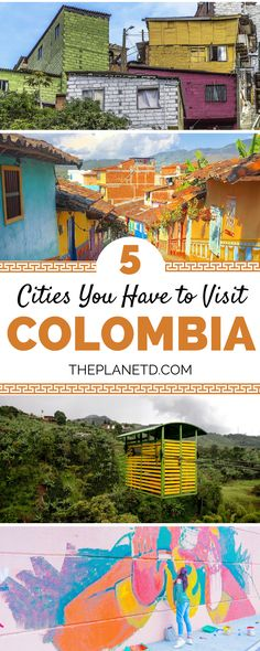Places in Colombia that you absolutely have to visit for their color, culture and beauty. Bucket list cities for your trip to Colombia including Medellin, Cartagena, Bogota and more. Best of travel in South America. | Blog by The Planet D #Travel #Colombi