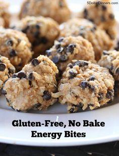 GF No Bake Energy Bites Gluten Free, No Bake Energy Bites ~for snacks Gluten Free Snacks, Gluten Free Recipes, No Bake Energy Bites, Energy Balls, Smoothies, Snack Recipes, Cooking Recipes, Cooking Tips, Keto