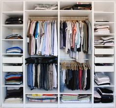 6 Steps To Keep Your Shared His-and-Her Closet Organized