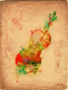 Violin Dreams Digital Art