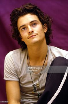 Orlando Bloom during 'Pirates of the Caribbean: The Curse of the Black Pearl' Press Conference with Johnny Depp, Orlando Bloom, Keira Knightley and Jerry Bruckheimer at St. Regis Hotel in Century City, California, United States.