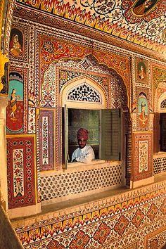 David Sanger | India, Rajasthan, Durbar Hall, Samode Palace