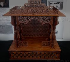 LASER CUT PROJECT, TEMPLE FOR HOME USE. MADE FROM TIMBER AND VARNISHED TO GIVE IT AN ANTIQUE LOOK,  Laser Cut Shrine, Laser Cut temple, Intricate Laser Cutting, For home use, Gift. Model Making, Project Home Temple, Cut Work, Laser Cutting, Carving, Cool Stuff, Antiques, Gift, Projects, Model