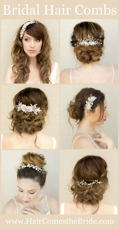 Bridal Hair Combs and Clips by Hair Comes the Bride - Quick Shipping
