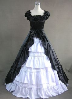 Cheap Ruffled Neckline Multi-Layer Fashion Gothic Victorian Lolita Dress Sale At Lolita Dresses Online Shop. We provide Lolita products with quality and best service online, lower price and top style fashion for you. Gothic Victorian Dresses, Victorian Ball Gowns, Gothic Lolita Dress, Victorian Costume, Victorian Fashion, Modern Victorian, Victorian Steampunk, Steampunk Fashion, Gothic Fashion