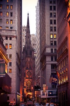 Trinity Church. FIDI, NYC