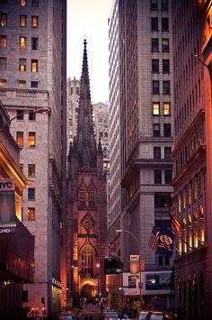 Trinity Church. FIDI, NYC