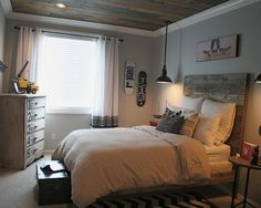 Rustic Boy Bedroom Part 1 Rustic modern Vintage modern and Brown