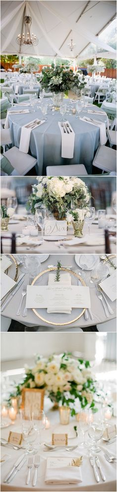 trending elegant wedding table setting ideas #wedding #weddingdecor #weddingideas