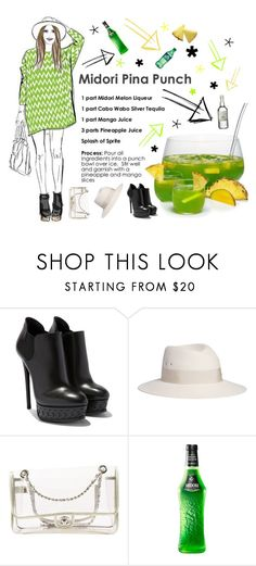"""""""Melon Punch"""" by beanpod ❤ liked on Polyvore featuring Maison Michel, Chanel and Midori"""