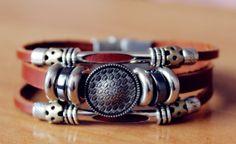 shield handmade leather bracelet leather by lazypigzbusiness, $10.00