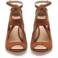 Zara Multi-Strap High Heel Sandal ($90) via Polyvore