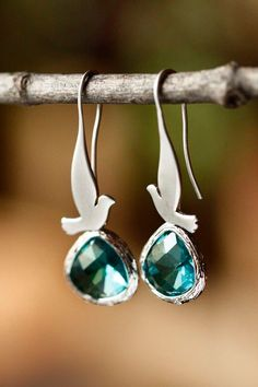 So cute! I want these birds earrings! Lovely gift   A personal favorite from my Etsy shop https://www.etsy.com/ca/listing/88836644/singing-birds-in-blue-silver-color-dove