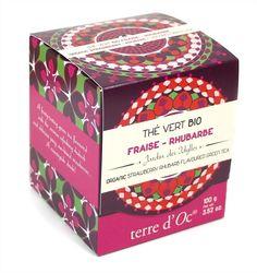 Thé Vert Bio Fraise-Rhubarbe de Terre d'Oc (Nature et Découverte)