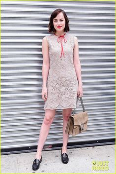 dakota johnson aaron taylor johnson gucci cruise show 01 Dakota Johnson looks super chic in her short dress while attending the Gucci Cruise 2016 fashion show held on Thursday morning (June 4) in New York City.    Also…