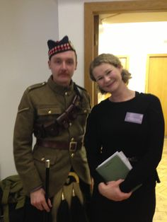 World War One event with Gordon Highlanders soliders 1914 - 1918 #WWI