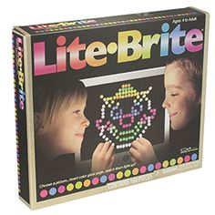 Amazing new Lite Brite - lets you create beautiful designs with stay-put pegs and then light the whole thing up when it's finished! Screen folds flat and has a place to store pegs. Introducing the new reusable templates for designs to follow.<br><br>150 fun shaped Pegs<br>Removable storage tray<br>6 reusable templates<br>4 different light effects<br>