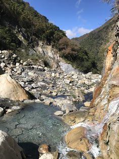 LeLeGu wild hot spring, located in mid Taiwan, with amazing cliff scenery on the way to hot spring, so much enjoyed soaking over night