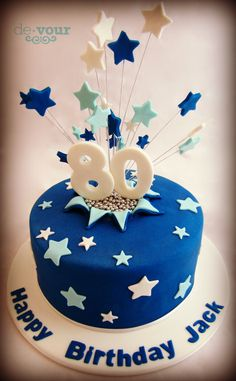 Starburst Cake Star 80th Birthday For Men Bithday Cakes