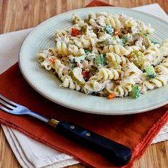 Tuna Pasta Salad #recipe with Lemon, Green Olives, and Cucumbers