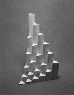 The Book of Paper — Oliver Helfrich Oliver Helfrich Geometric Sculpture, Abstract Sculpture, Geometric Shapes, Sculpture Art, Paper Sculptures, Ceramic Sculptures, Concept Architecture, Architecture Design, Nirmana 3d