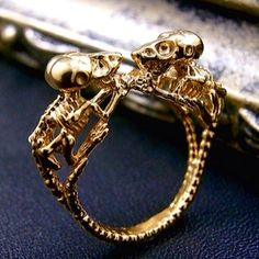 bone of mouse  ring http://www.nyui.info/collection/index.htm