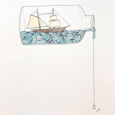 """hms-surprise: """"Ship in a bottle. """""""