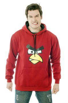 Se você curte games, não pode ficar sem esse moletom Angry Birds. Só tome cuidado, nada de sair trombando nas paredes.