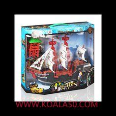 Barco Pirata - 9,05 €  ¡Un juguete clásico que siempre entretiene y fascina a los niños, elbarco pirata que surca los mares en busca de aventuras!Fabricado en plásticoTres ruedecitas para deslizarloIncluye un pirata...  http://www.koala50.com/regalos-para-ninos/barco-pirata