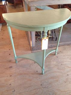 Vintage Half Moon Side Table