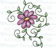 Daisy & Vines - Whimsical - Floral/Garden - Rubber Stamps - Shop