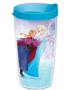 Disney Frozen - Anna and Elsa Skating - Wrap with Lid | 16oz Tumbler | Tervis®