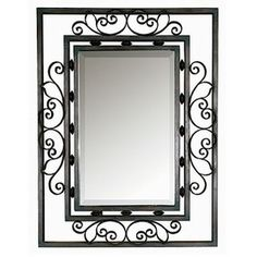 large rot iron rectangular mirrors - Google Search