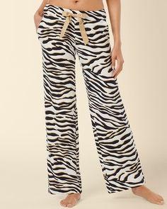 Soma Intimates Embraceable Pajama Pant Safari Ivory #somaintimates