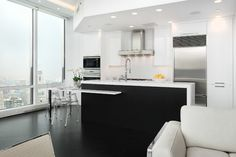 Looking for Black and White Kitchen ideas? Browse Black and White Kitchen images for decor, layout, furniture, and storage inspiration from HGTV. Küchen Design, House Design, Design Styles, Bright Kitchens, Small Kitchens, Minimalist Room, Wooden Kitchen, Modern Table, Modern Rustic