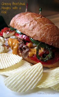 Cheesy Beefsteak Hoagies with a Kick of Zesty Flavors, Mmm, Mmm Goodness !!