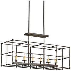 Currey and Company Fitzjames Rectangular Chandelier 9817 – Benjamin Rugs & Furniture