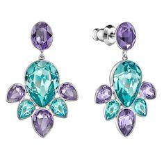 cfda10f72 Swarovski Multi-color Crystal EGLANTINE Pierced Earrings #5228775