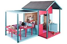 Kinderkabine Archives – Jardi brico - Rustic Home Playhouse Outdoor, Wooden Playhouse, Outdoor Playground, Cubby Houses, Play Houses, Photo Wall Decor, Wendy House, Outdoor Play Areas, Backyard Play