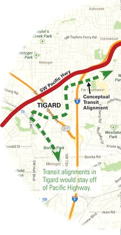 As part of its SWCorridor involvement, Tigard has successfully fought to keep high-capacity transit off of Pacific Highway.